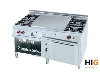 Frytop CrD.15mm/Glad - 2 x Oven - Line 750 - GAS - 1600mm Breed - 20R5H