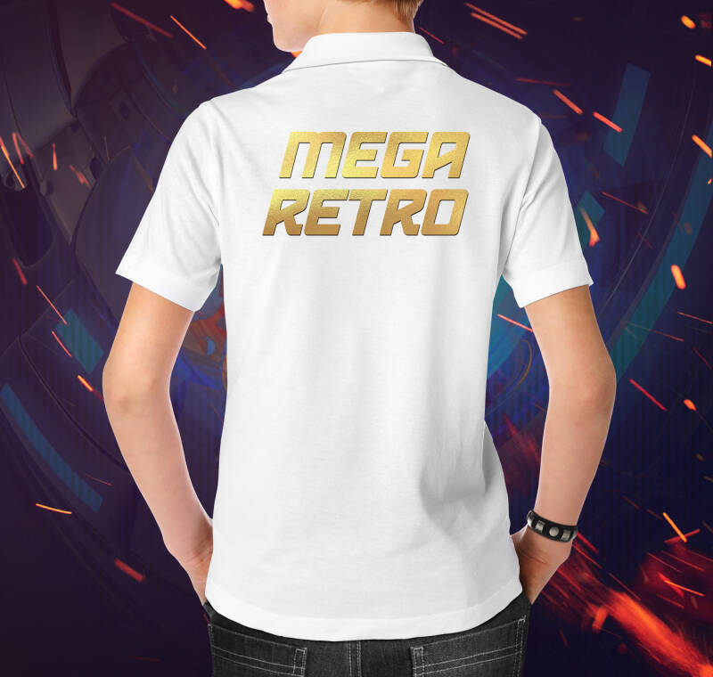 Polo - Mega Retro Gold White (M)