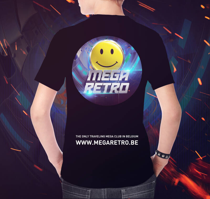 T-shirt Mega Retro black (M)