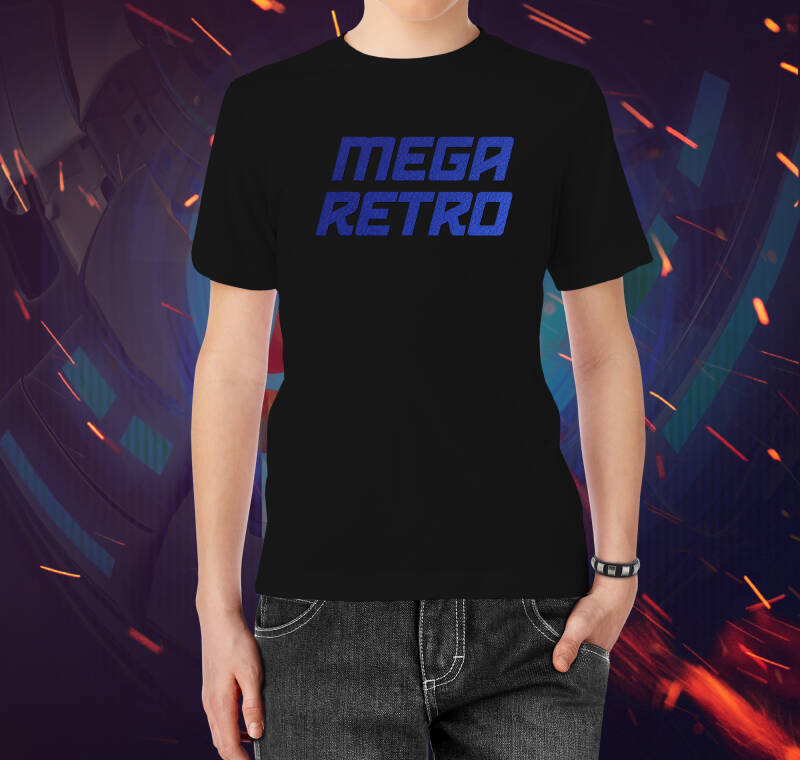 T-shirt Mega Retro Flex Blue (Black M)