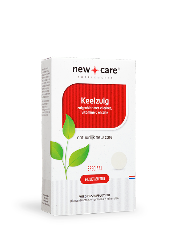 New Care Keelzuig  24 zuigtabletten