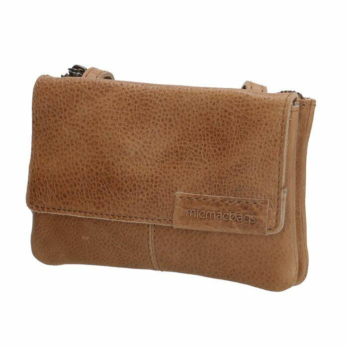 Micmacbags Leren Cross Body tasje zand