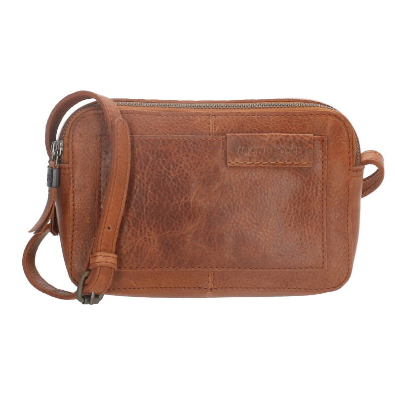 Micmacbags Leren Cross Body tasje camel
