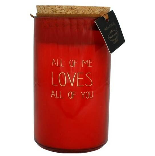 My Flame sojakaars in glas - all of me loves al of you -