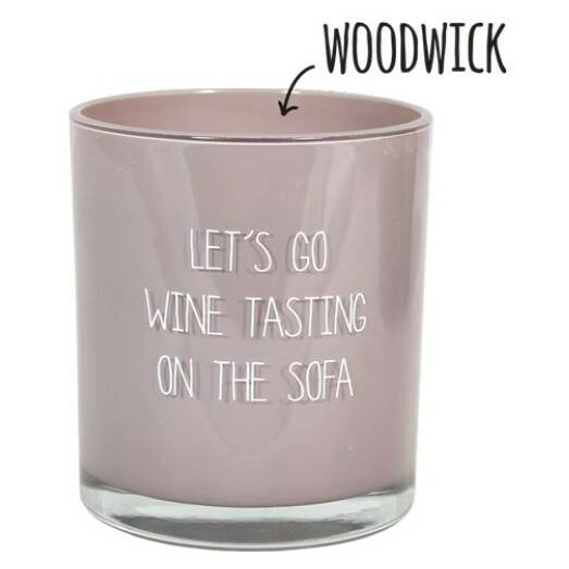 My Flame sojakaars in glas - let's go wine tasting on the sofa -