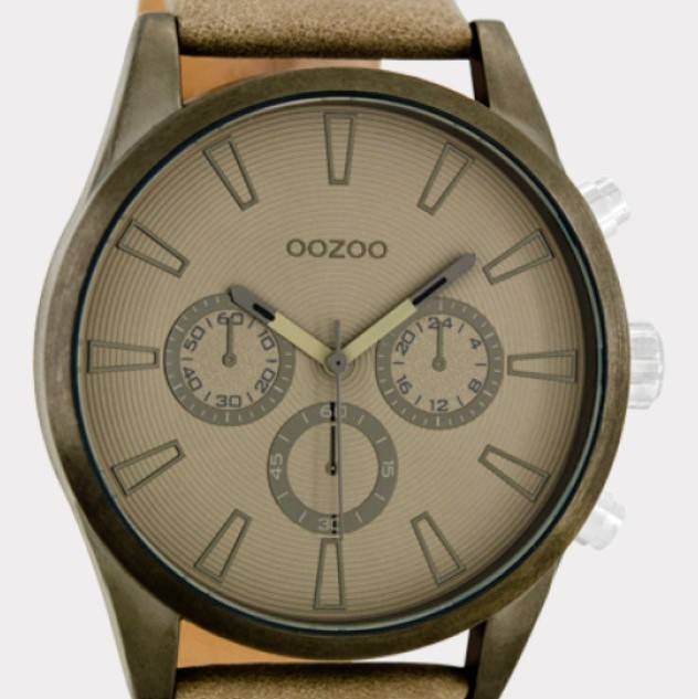 OOZOO Timepieces taupe C8200