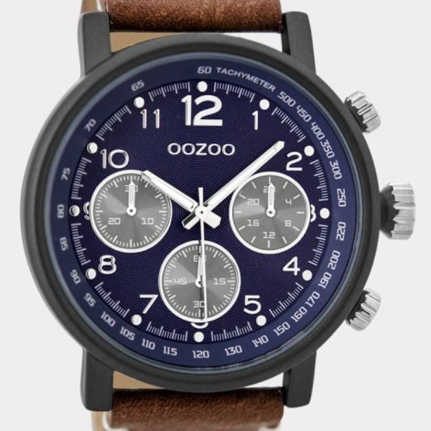 OOZOO Timepieces cognac taupe C9456