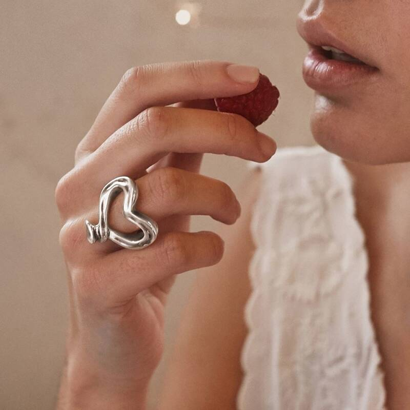 UNOde50 ring Nailed Heart