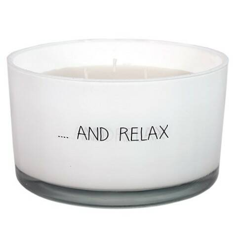 My Flame sojakaars 3 lonten in glas -... and relax -