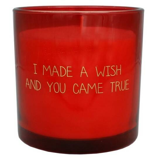 My Flame sojakaars in glas - I made a wish and you came true -