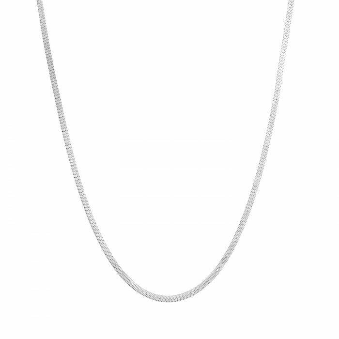 Ketting smalle flat chain zilver