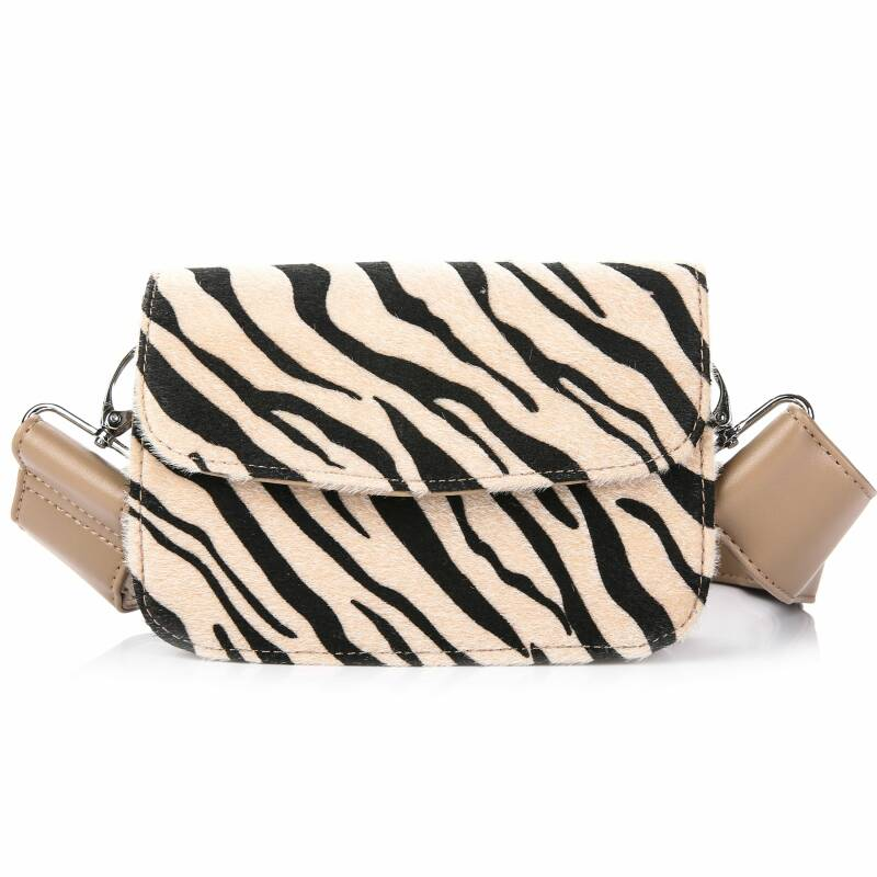 Zebra bag beige