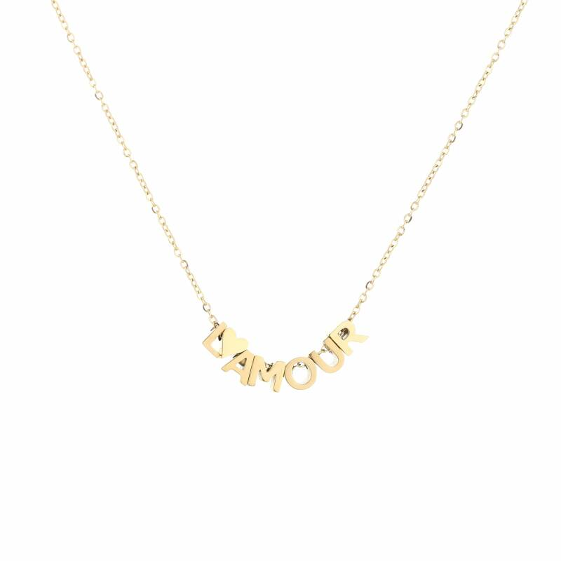 Ketting l'amour goud