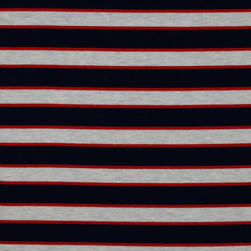 French Terry Stripes Navy