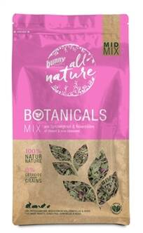 BUNNY NATURE BOTANICALS MIDI MIX SMALLE WEEGBREE / ROZENBLOESEM 120 GR