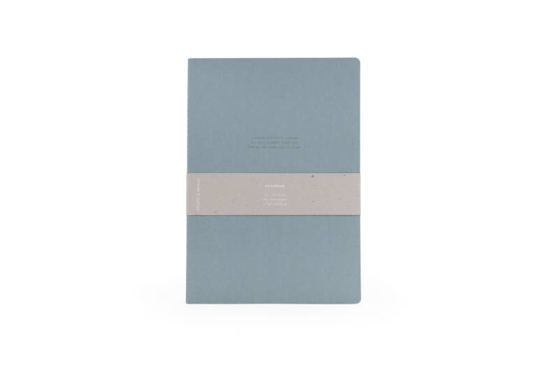 Notebook XL met Quote in Dusty green or Brick red - Monk & Anna