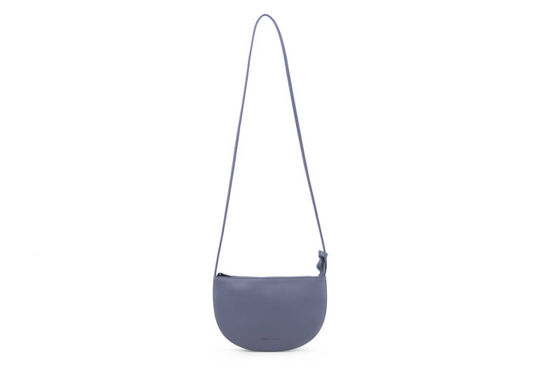 Monk & Anna - Half moon bag faded blue