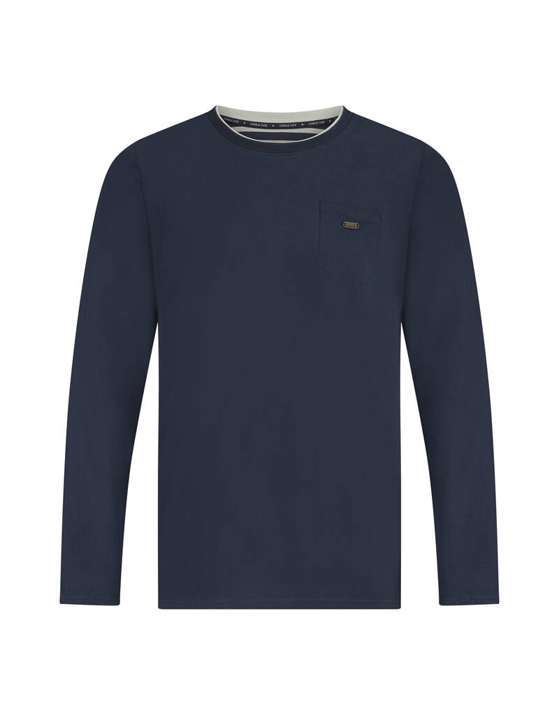Men t-shirt navy longsleeve