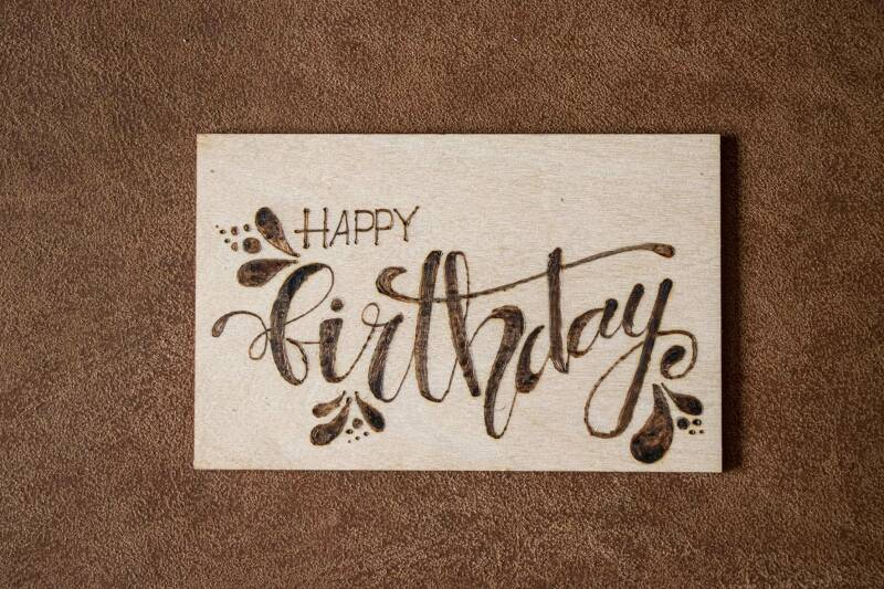 Houten kaart - Happy birthday/3