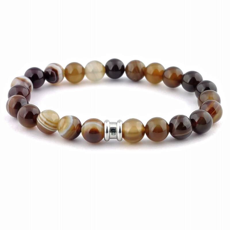 Stones bracelet basic - Chocolate
