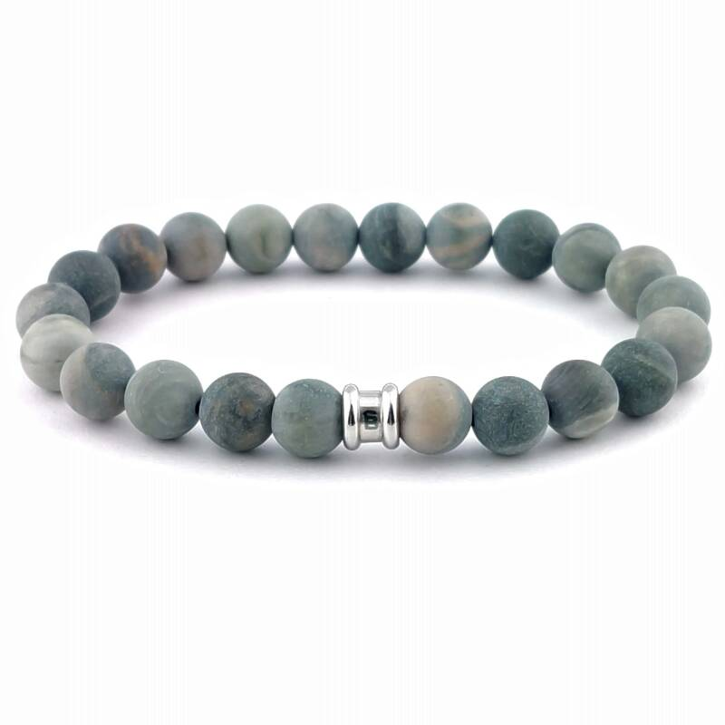 Stones bracelet basic - Matt mud