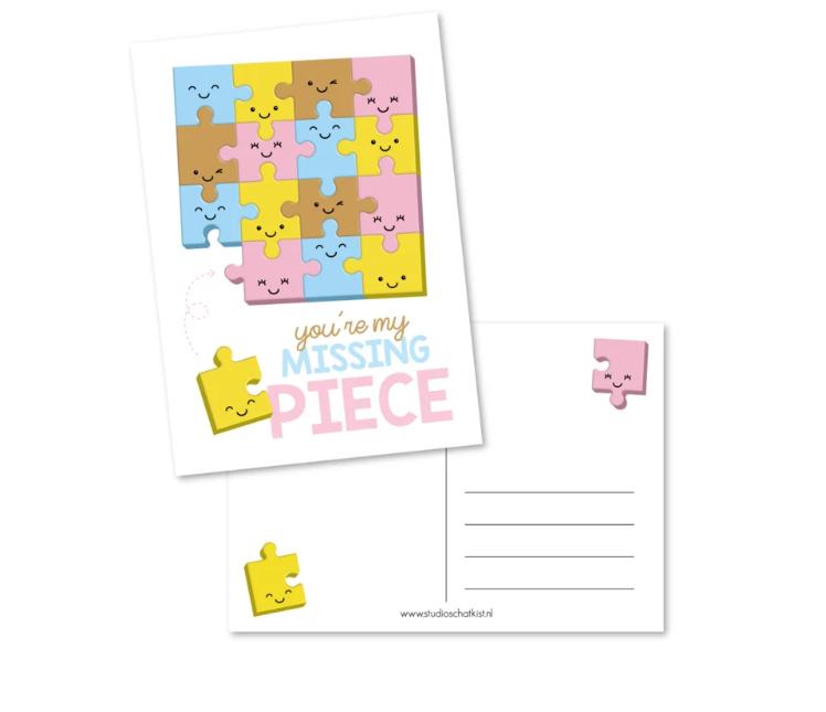 Kaartje: you are my missing piece