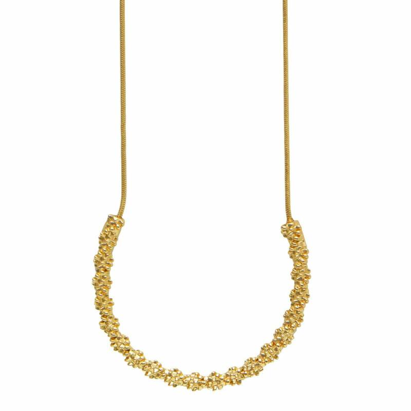 Dansk Copenhagen Cliff simple Ketting Gold plating