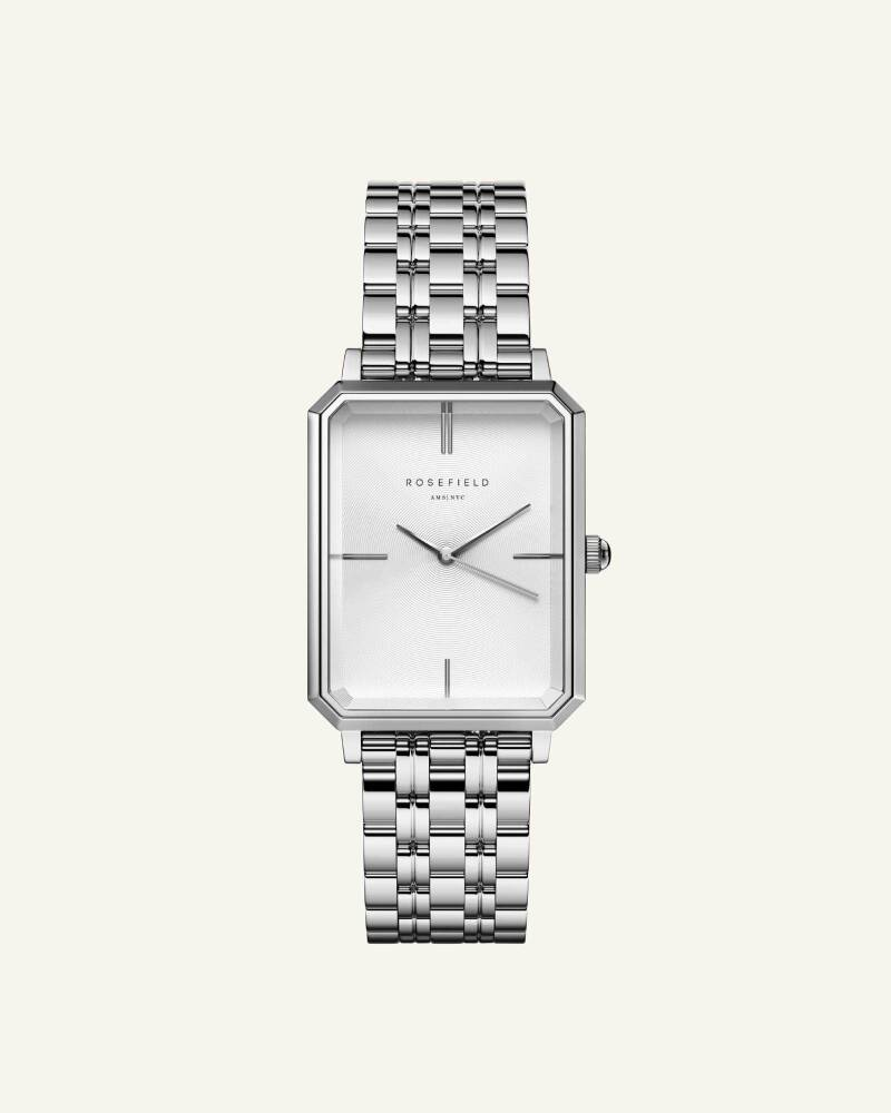 The Elles White Sunray Steel Silver 22mm