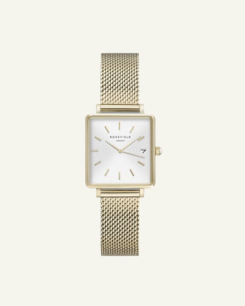 The Boxy XS White Sunray Mesh Gold 22mm