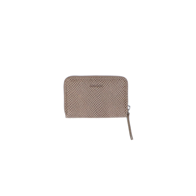 By LouLou kleine portemonnee queen taupe - zilver