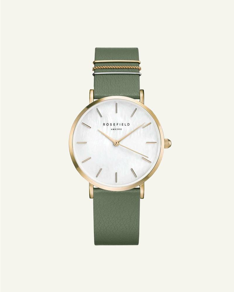 The West Village Olive Green Gold 33mm