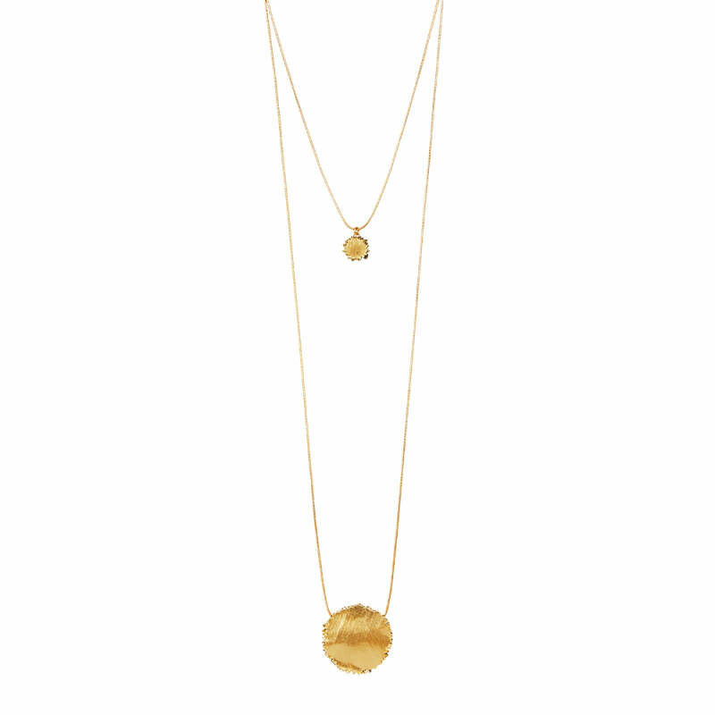 Dansk Copenhagen Edge round 2-1 ketting gold plating