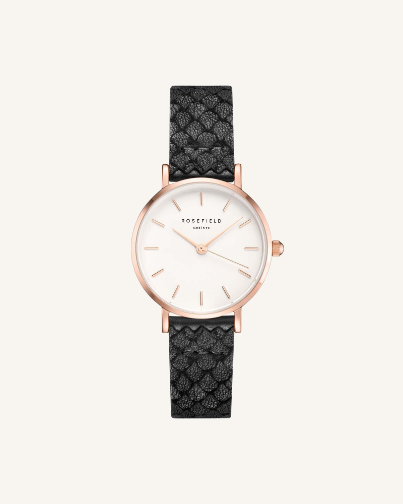 The Small Edit White Black Rose gold 26mm