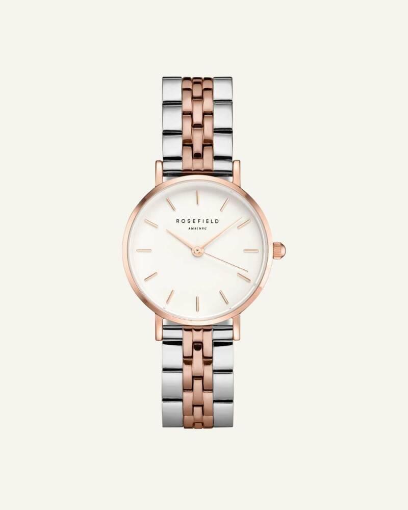 The Small Edit White Steel Silver Rose gold Duo 26mm