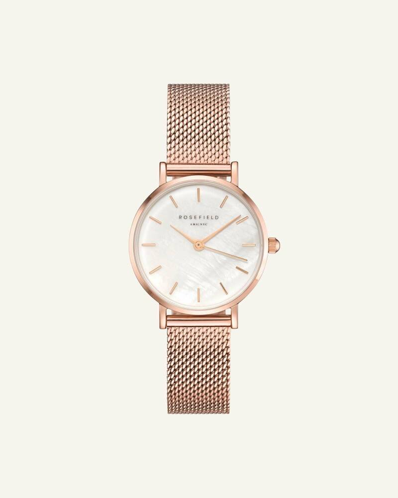 The Small Edit White Rose gold 26mm