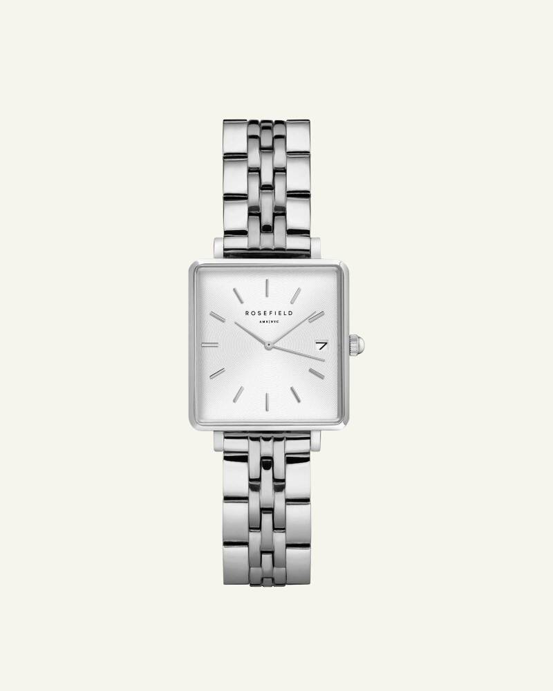 The Boxy XS White Silver 22mm