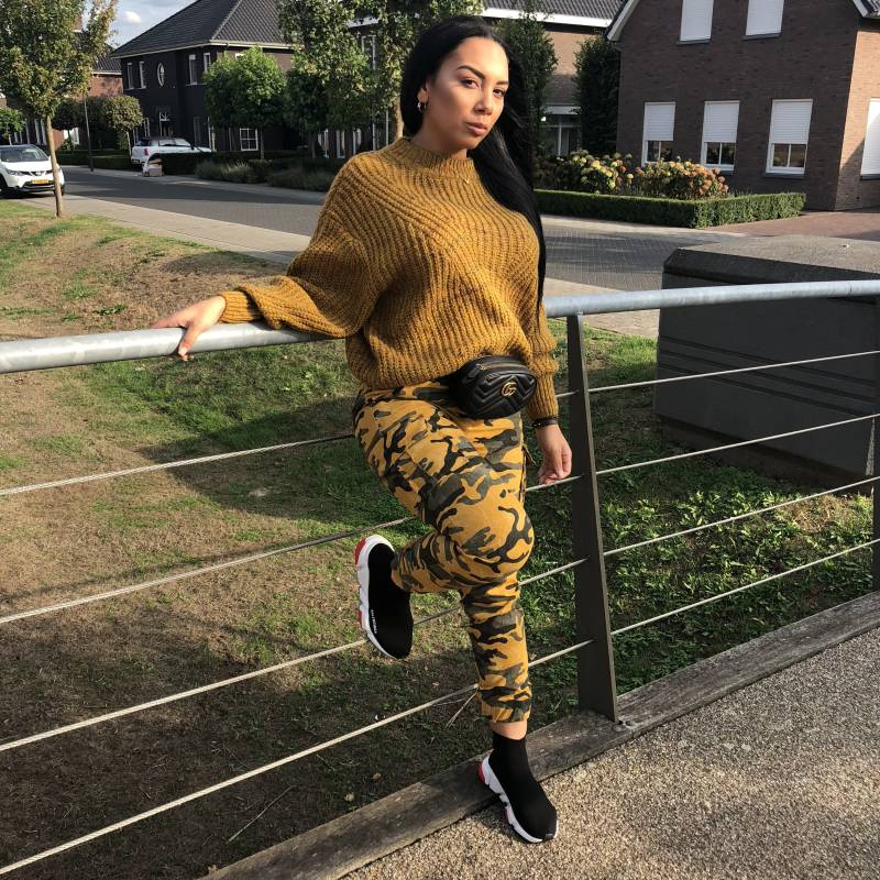 Yellow Mixed Up Sweater