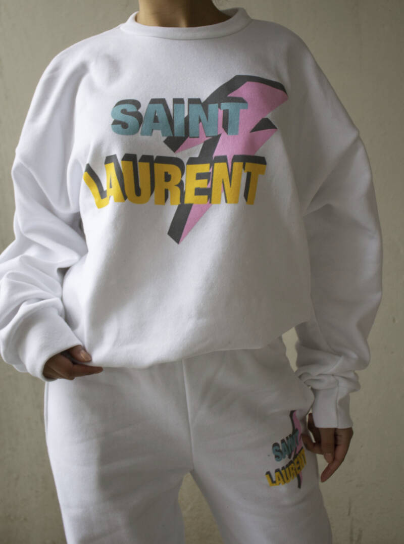 Saint Laurent Oversized Sweater White