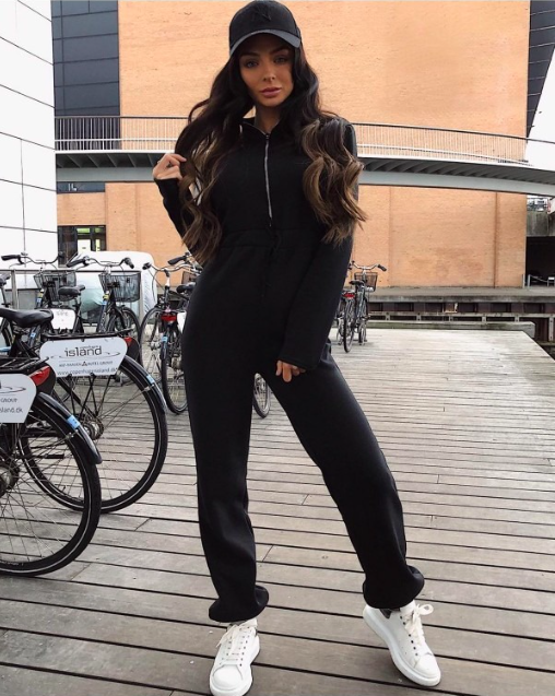 Zip Front Fleece Jumpsuit