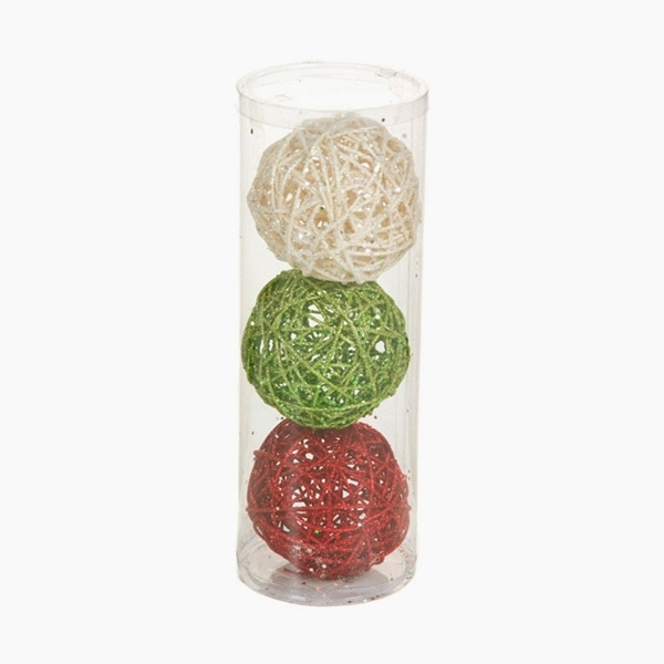 Kerstballen Rood Groen Wit (3 pcs) by Christmas Planet