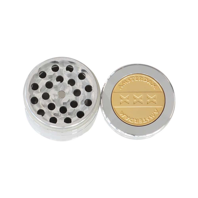 Metal grinder Amsterdam Weapon Gold 50mm 4 pts