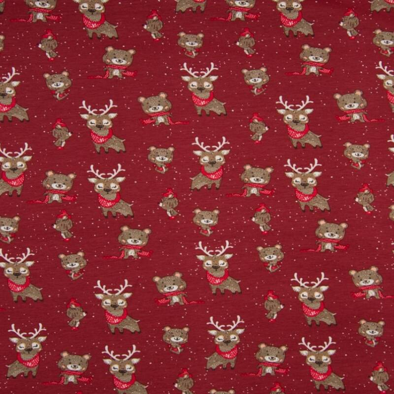 Red Christmas Tricot J012