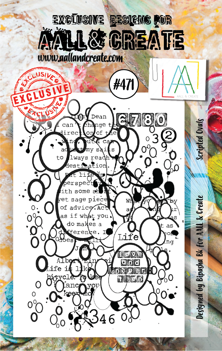 AALL & Create Stempel - Scripted Ovals #471
