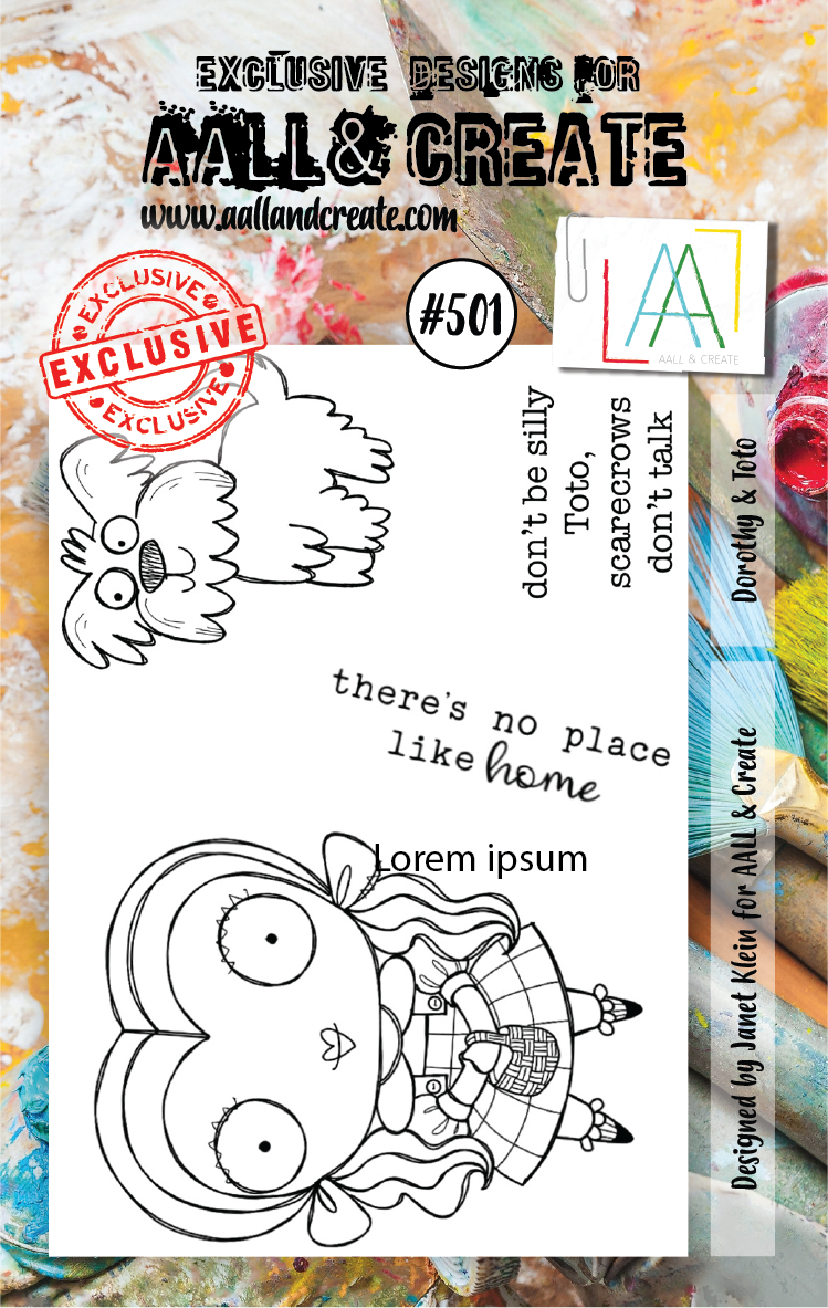 AALL & Create Stempel - Dorothy & Toto #501