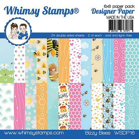 Whimsy Stamps Motivpapier - Bizzy Bees (WSDP16)