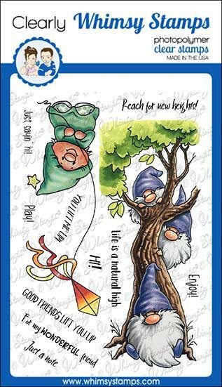 Whimsy Stamps Stempel - Gnome Lift You Up (C1117a)