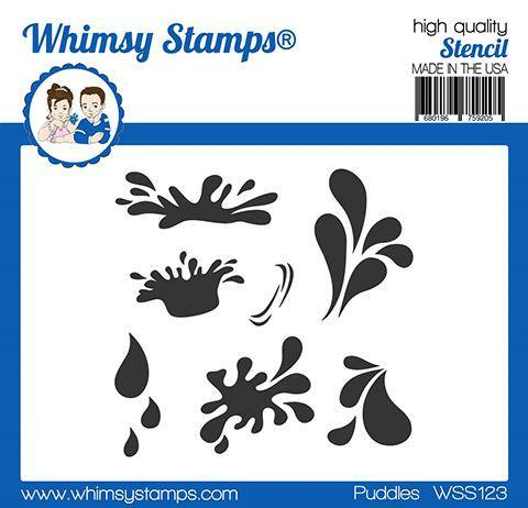 Whimsy Stamps Schablone - Puddles (WSS123)