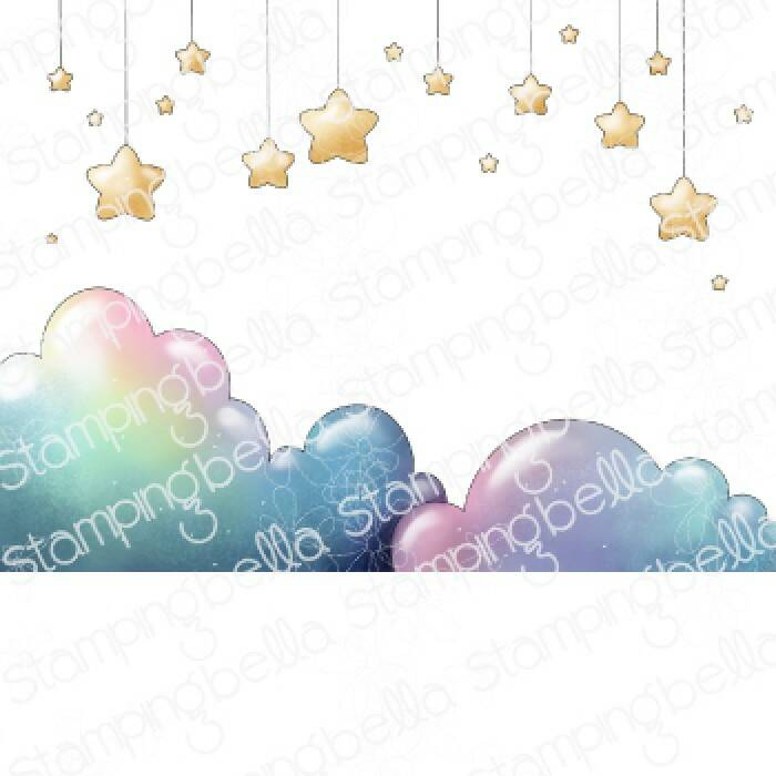 Stamping Bella Stempel - Stars And Clouds Backdrop (eb1067)