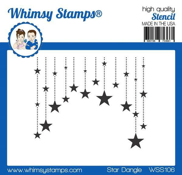 Whimsy Stamps Schablone - Star Dangle (WSS106)