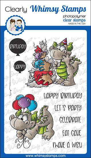Whimsy Stamps Stempel - Birfday party Dragons (DP1055)